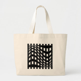 Optical illusion background tote bags