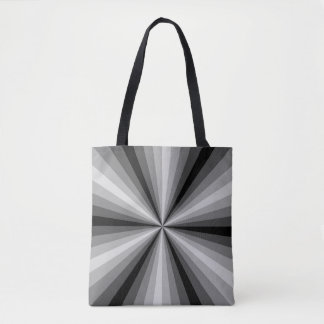Optical Illusion Black All-Over-Print Bag