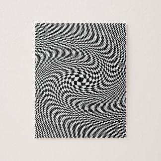 Optical Illusion Black and White Jigsaw Puzzle