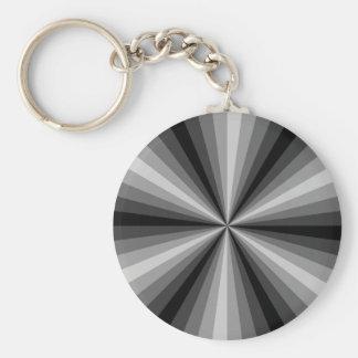 Optical Illusion Black Keychain
