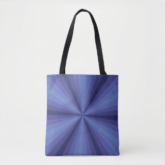 Optical Illusion Blue All-Over-Print Bag