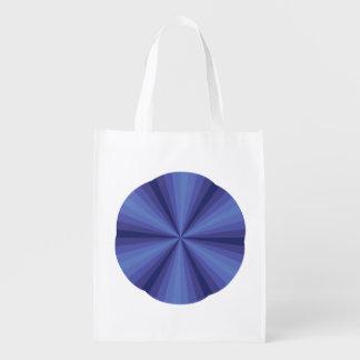 Optical Illusion Blue Reusable Grocery Bag