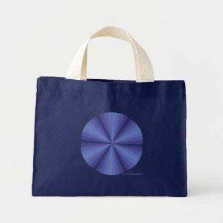 Optical Illusion Blue Tote Bag