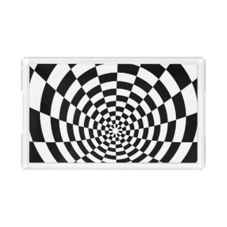 Optical Illusion checkered spatial pattern
