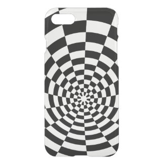 Optical Illusion checkered spatial pattern iPhone 7 Case