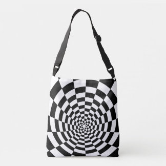 Optical Illusion checkered spatial pattern Tote Bag