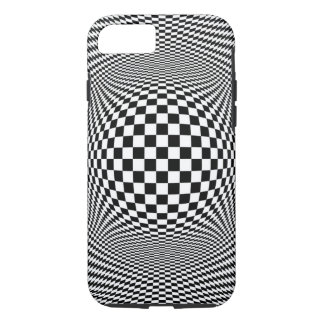 Optical Illusion Checkers iPhone 7 Case