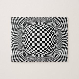 Optical Illusion Checkers Puzzle