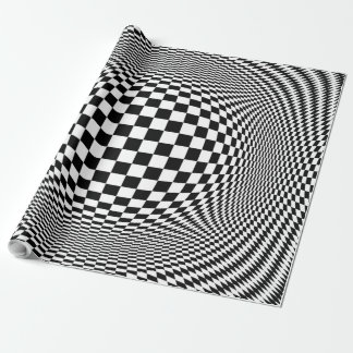 Optical Illusion Checkers Wrapping Paper