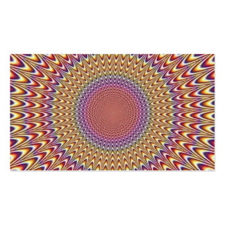 Optical Illusion Circle Expand Spiral Rainbow Pack Of Standard Business Cards