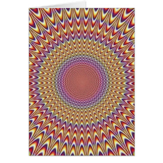 Optical Illusion Circle Hypnotic Rainbow Colorful Card