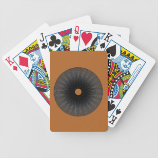Optical illusion circle on burnt orange bicycle playing cards