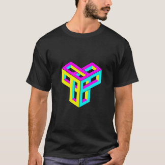 Optical Illusion CMYK Blocks T-Shirt