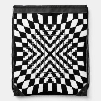 Optical Illusion Drawstring Backpack