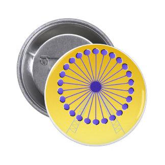 Optical illusion Ferris wheel 6 Cm Round Badge