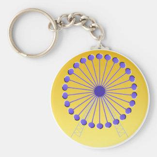 Optical illusion Ferris wheel Basic Round Button Key Ring