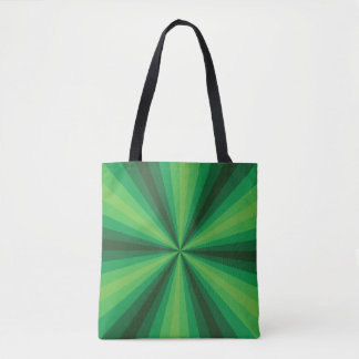 Optical Illusion Green All-Over-Print Bag