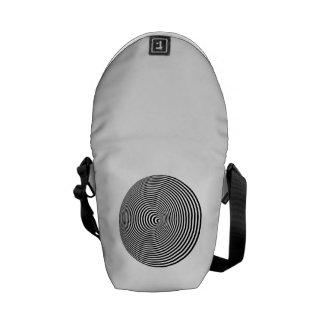 Optical Illusion Messenger Bag