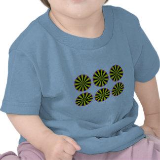 Optical Illusion Moving Circles Tee Shirts
