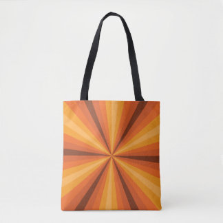 Optical Illusion Orange All-Over-Print Bag