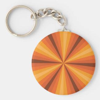 Optical Illusion Orange Keychain
