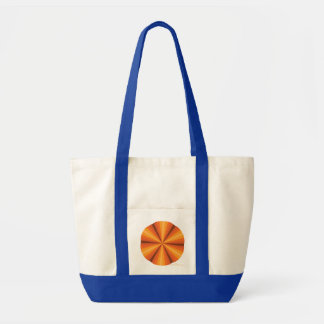 Optical Illusion Orange Tote Bag