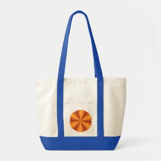 Optical Illusion Orange Tote Bag