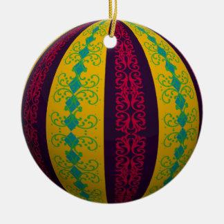 Optical Illusion Ornamental Stripe Christmas Ornament