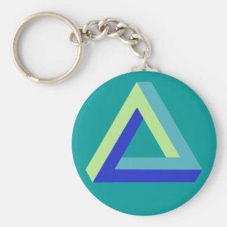Optical illusion penrose triangle key chains