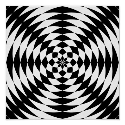 Optical Illusion Print | Zazzle