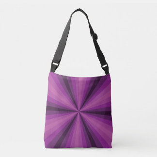 Optical Illusion Purple All-Over-Print Bag