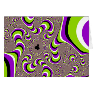 Optical Illusion Purple Green Holographic Hypnotic Card