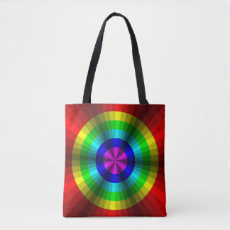 Optical Illusion Rainbow All-Over-Print Bag