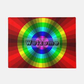 Optical Illusion Rainbow Doormat