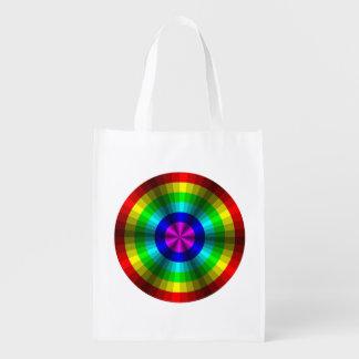 Optical Illusion Rainbow Reusable Grocery Bag