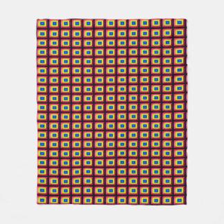 Optical Illusion Rectangular Shape Minimalism Fleece Blanket