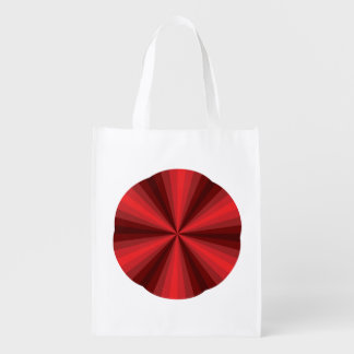 Optical Illusion Red Reusable Grocery Bag