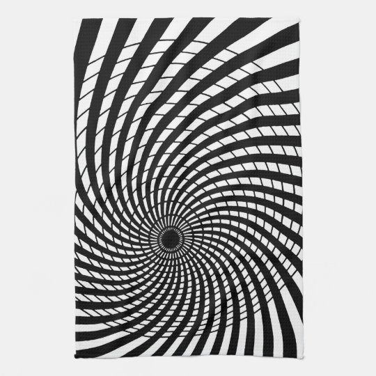 OPTICAL ILLUSION Retro Art Tea Towel