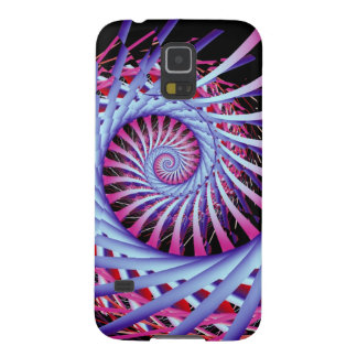 Optical Illusion Spiral in pink & purple Galaxy S5 Covers