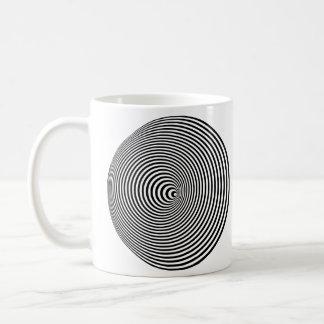 Optical Illusion Spiral - Left-Handed Coffee Mug