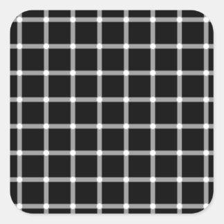 Optical illusion square sticker