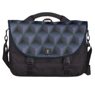 Optical Illusion Squares Pattern Lap Top Bag Bags For Laptop