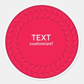 Optical Illusion Stickers, Customize! Classic Round Sticker