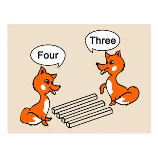 Optical illusion Trick Fox Postcard