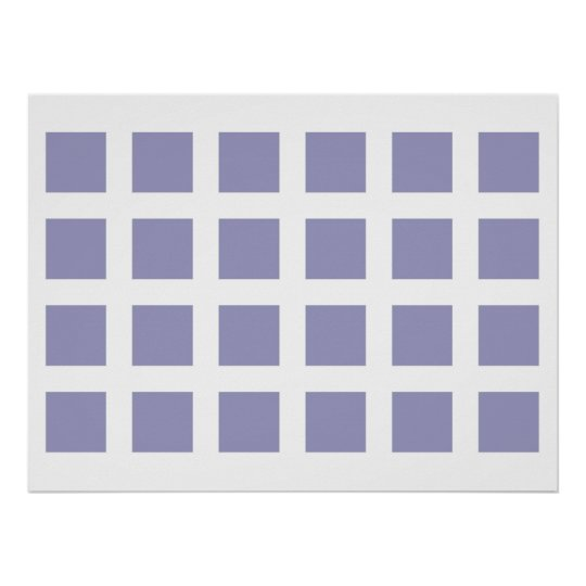 Optical Illusion Vanishing Dots Light Blue White Poster