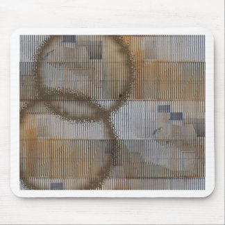 Optical Illusion with coffee stain 2 Mouse Mat