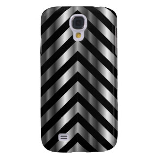 Optical illusion with metal bars and zig zag lines galaxy s4 case