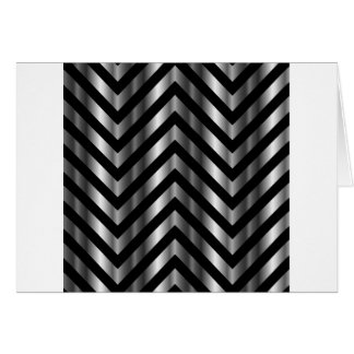 Optical illusion with metal bars and zig zag lines greeting card