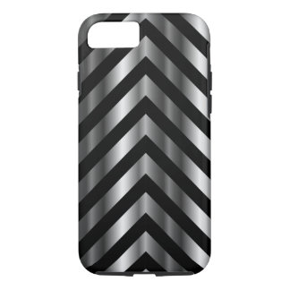 Optical illusion with metal bars and zig zag lines iPhone 7 case