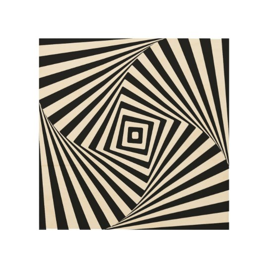 Optical Illusion Wood Prints